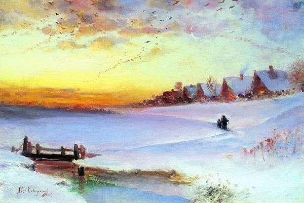 冬の風景(雪解け)   Alexey Savrasov