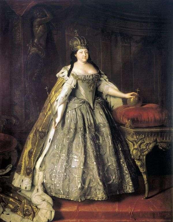 皇后アンナ・イオアノフナ   ルイ・カラヴァークの肖像