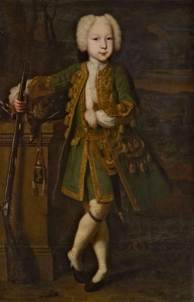 狩猟スーツ   ルイスカラバケの男の子の肖像画