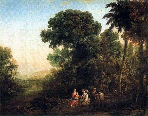 エジプト   Claude Lorrainに向かう途中の休息のある風景のある風景
