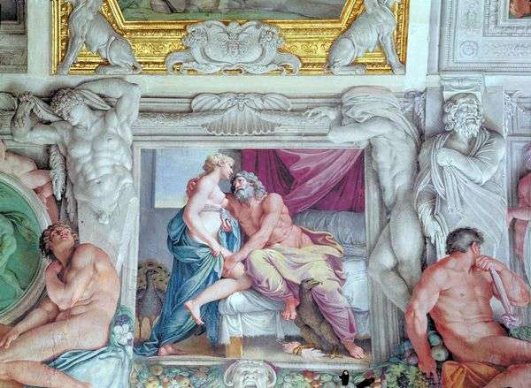 木星とジュノ   Annibale Carracci
