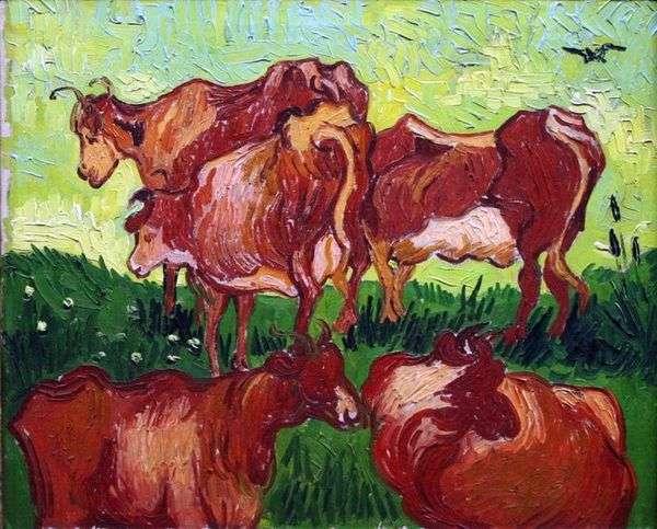 牛(Jordaens後)   Vincent Van Gogh