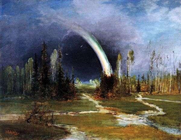 虹のある風景   Savrasov