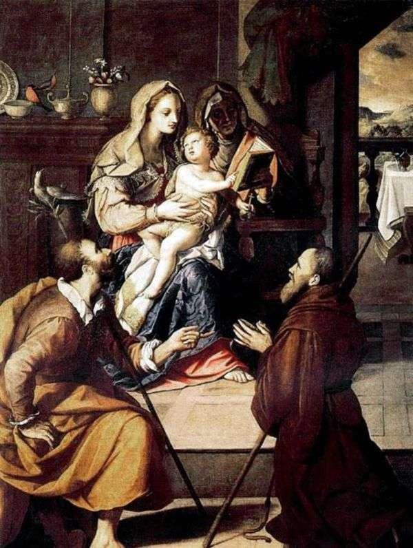 聖家族と枢機卿メディチ   Alessandro Allori