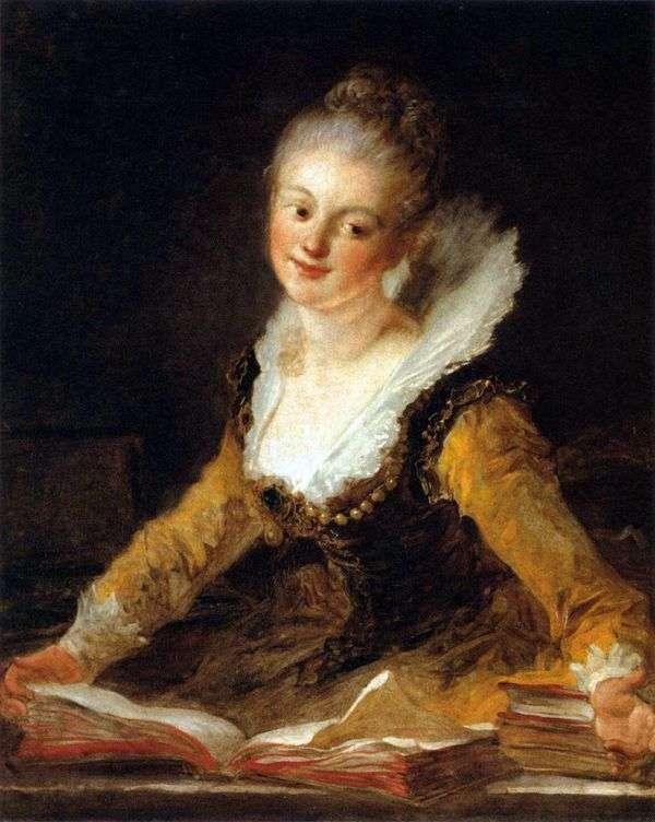 科学のミューズとしての女性の肖像   Jean Honore Fragonard