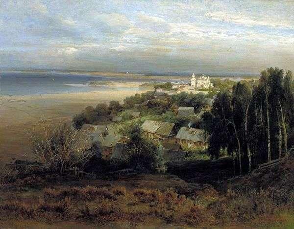 Nizhny Novgorod   Alexey Savrasovの近くのPechersky修道院
