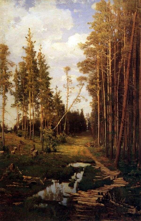 松林の中の空き地   Alexey Savrasov