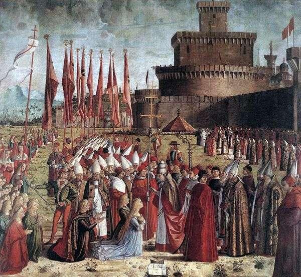 教皇のシリアと聖ウルスラと巡礼者の集会   Vittore Carpaccio