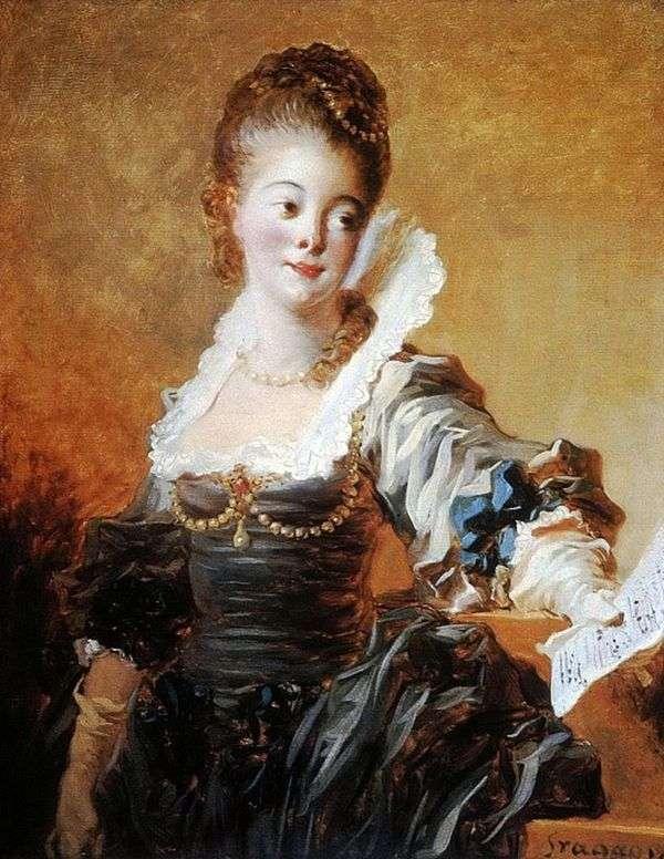 楽譜を保持している歌手の肖像   Jean Honore Fragonard