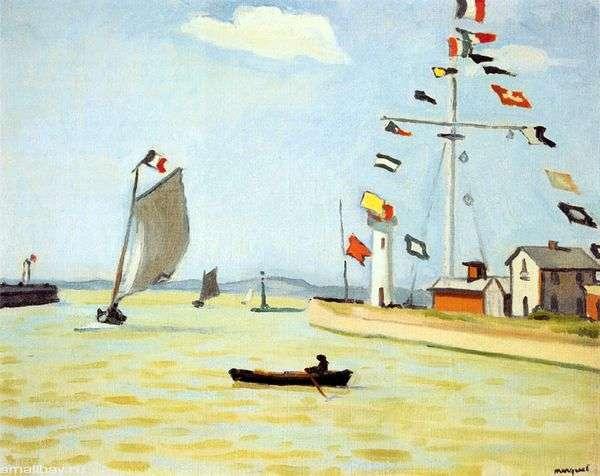 オンフルールの港   Albert Marche