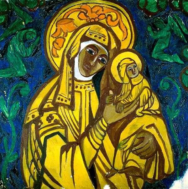 聖母子   ナタリア・ゴンチャロワ