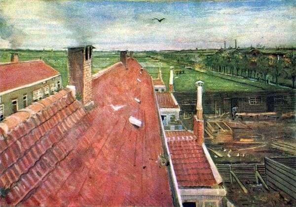 屋根 ワークショップからの眺め   Vincent Van Gogh