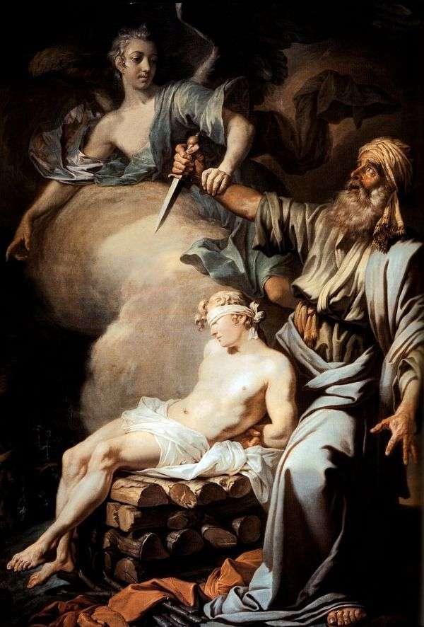 アブラハムは息子のイサク(アブラハムの生け贄)を生け贄に捧げる   Anton Losenko