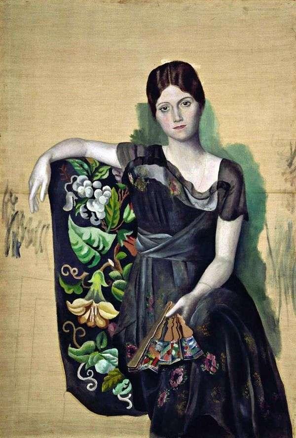 椅子の中のオルガの肖像   Pablo Picasso