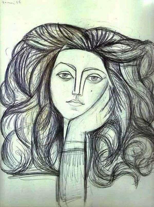 Francoise   Pablo Picassoの肖像