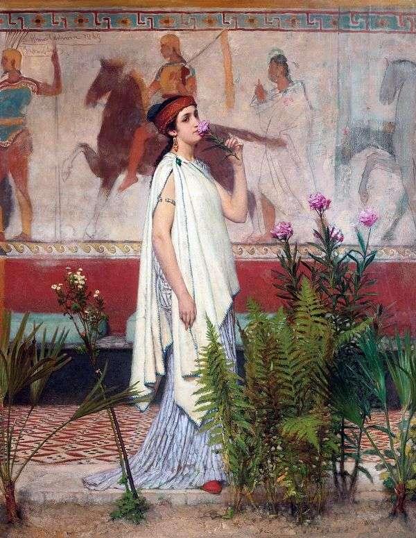 ギリシャの女性   ローレンスアルマ   タデマ