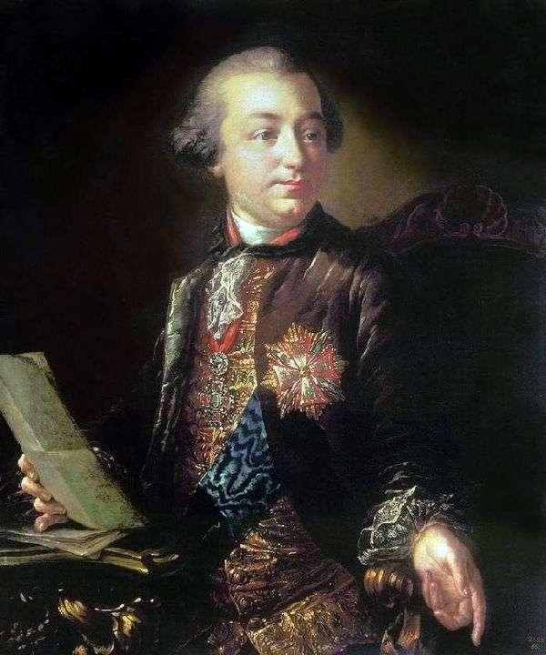 I. I. Shuvalovの肖像   アントン・ロセンコ