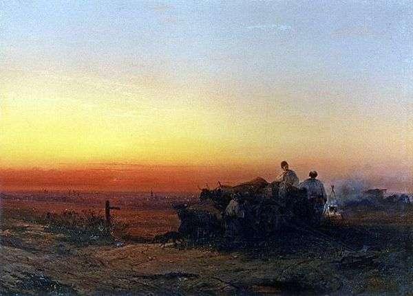 夕方にはチュマクとの草原   アレクセイ・サブラソフ