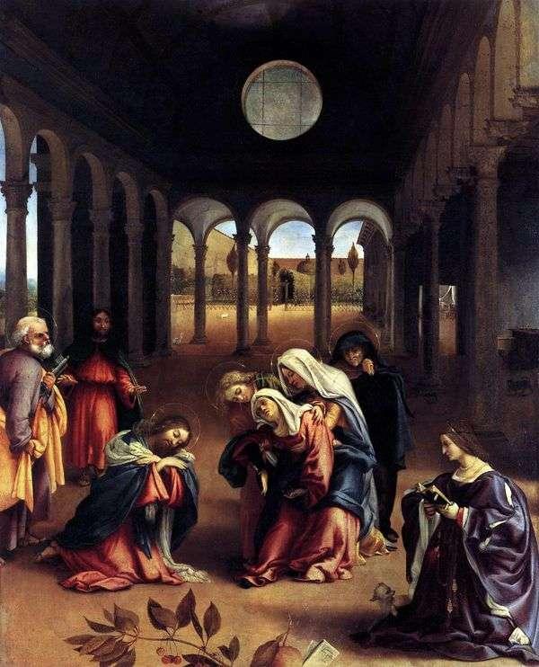 母親と共にキリストを捕まえる   ロレンツォ・ロト