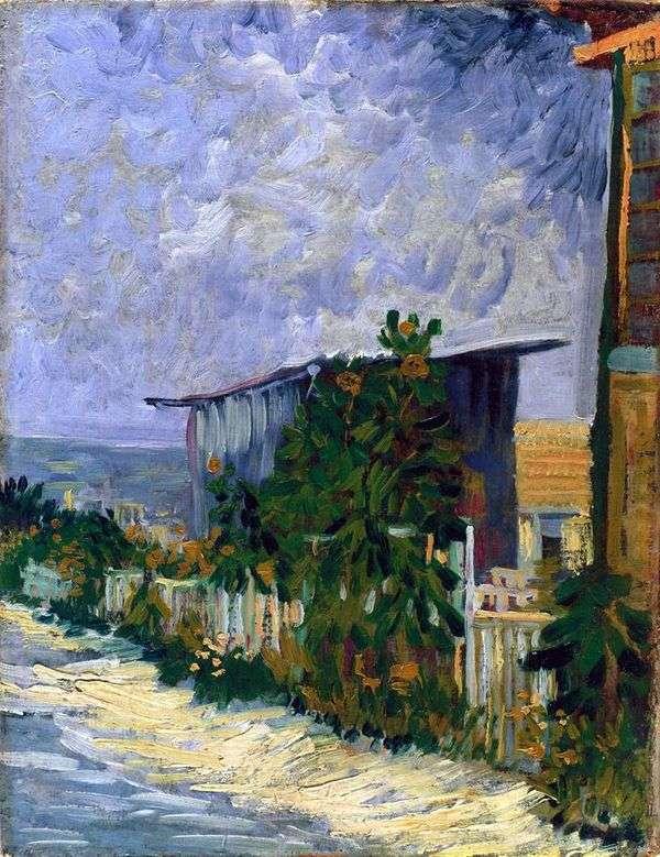 モンマルトル、ひまわりのある道   Vincent Van Gogh