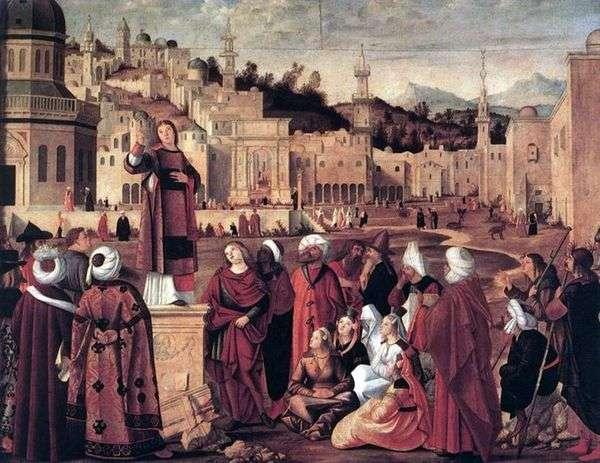 エルサレム   ヴィットーレカルパッチョの門の前に聖ステファンの説教