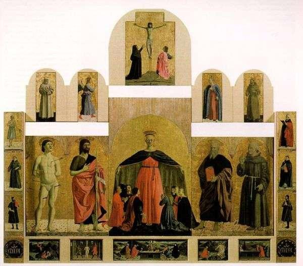 慈悲の兄弟愛の教会   ピエロ・デッラ・フランチェスカからの祭壇画
