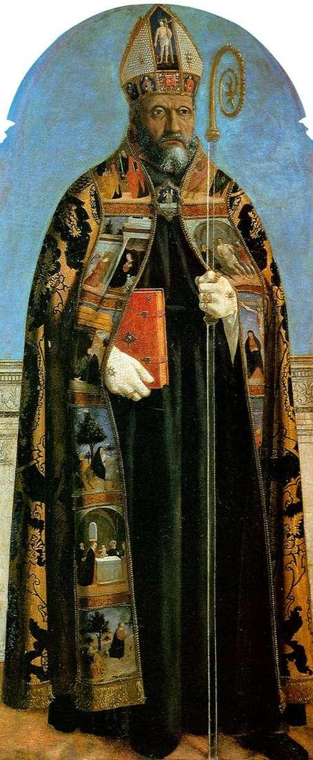 聖アゴスティーノ教会からの祭壇画:聖オーガスティン   ピエロ・デッラ・フランチェスカ