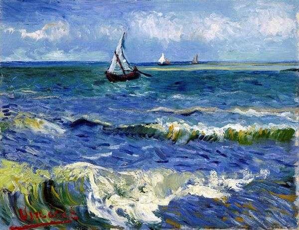 Saint Marie   Vincent Van Goghの海の景色