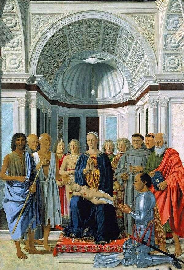 モンテフェルトロの祭壇   ピエロデッラフランチェスカ
