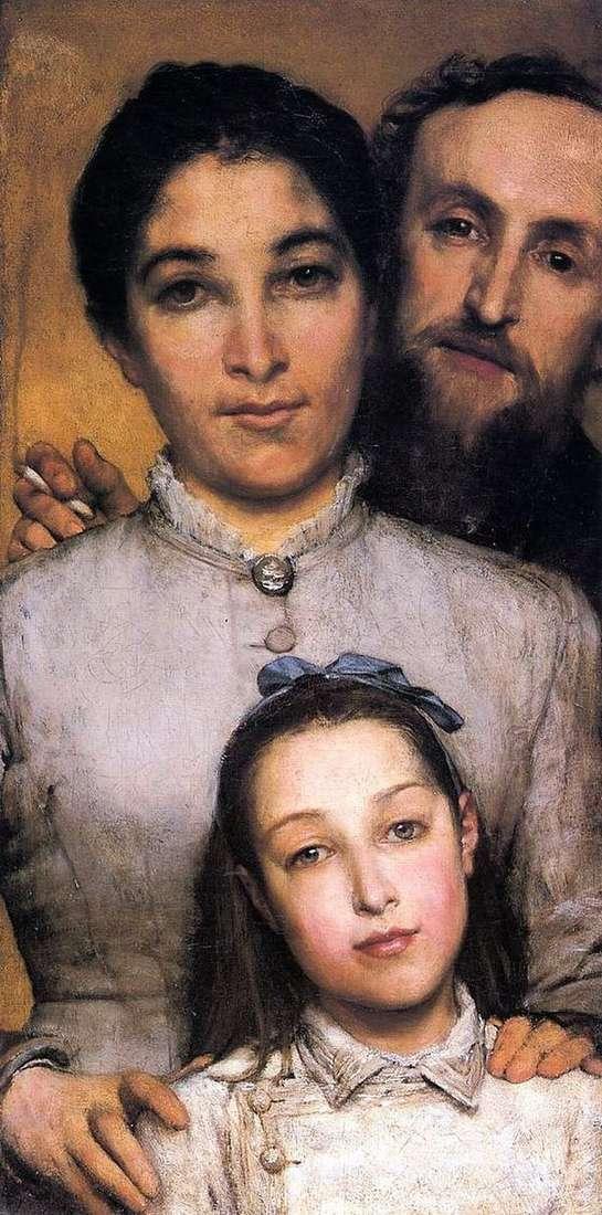 Aime Jules Dahl、彼の妻と娘   Lawrence Alma Tadema