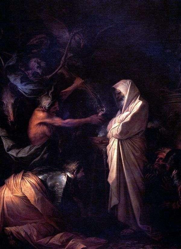サミュエルの霊が先祖の魔術師によってソールと呼ばれた   Rosa Salvator