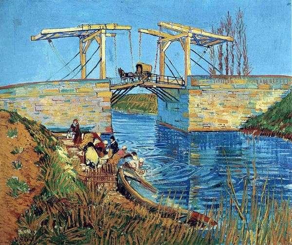 アルルと女性の消滅のラングロワ橋   Vincent van Gogh