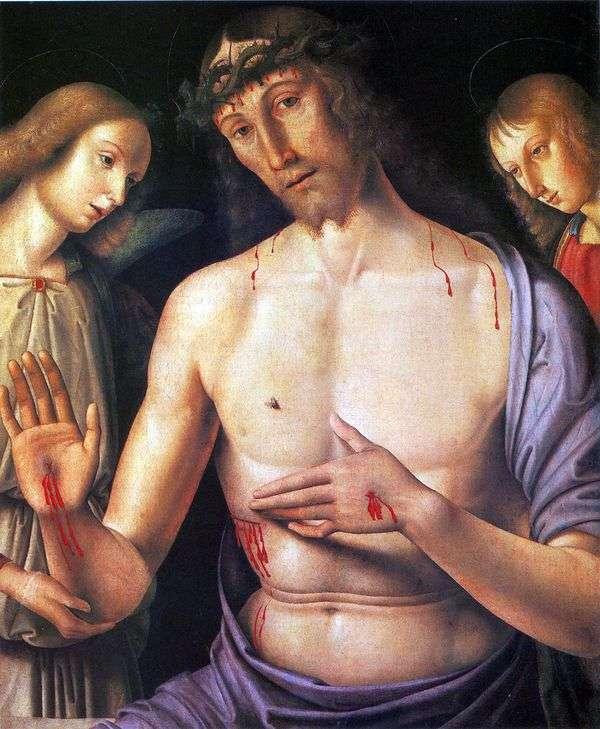 二人の天使とキリスト   ジョバンニ・サンティ