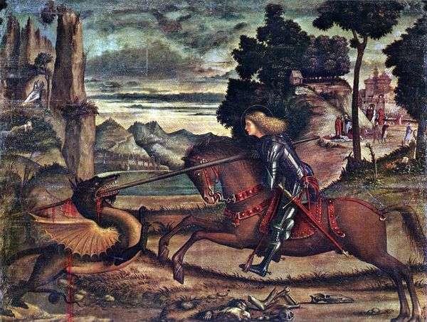 聖ジョージがドラゴンを襲う   ヴィットーレカルパッチョ