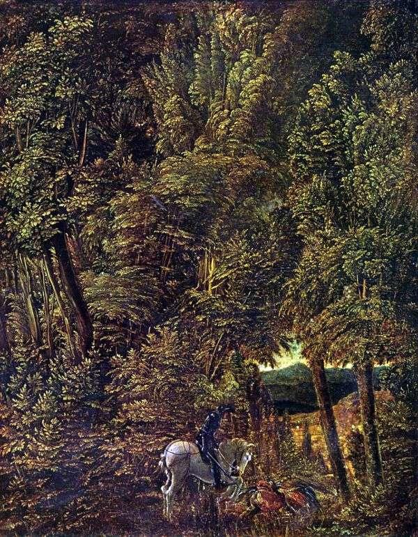 聖からの森林景観 ジョージストライクザドラゴン   Albrecht Altdorfer