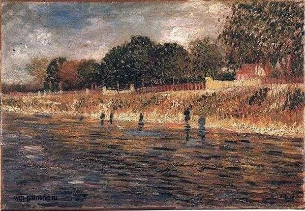 セーヌ堤防   Vincent Van Gogh