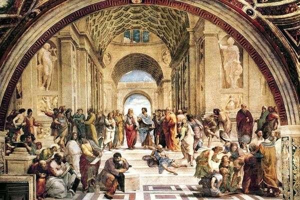 アテネスクール 絵画Stanze della Senyatura   ラファエル・サンティ
