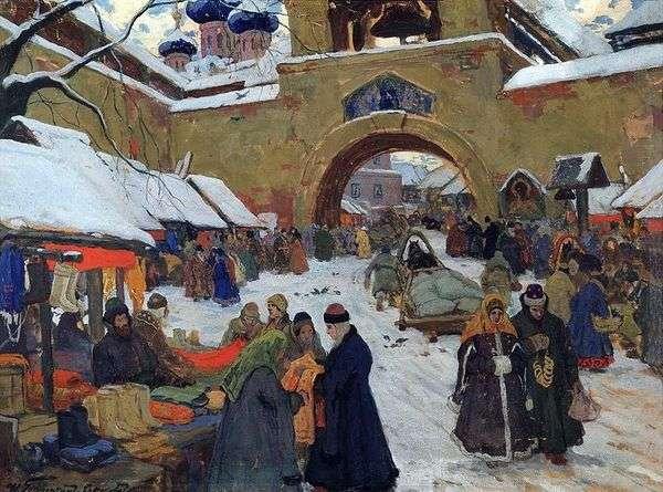 旧市街の市場の日   Ivan Goryushkin Sorokopudov
