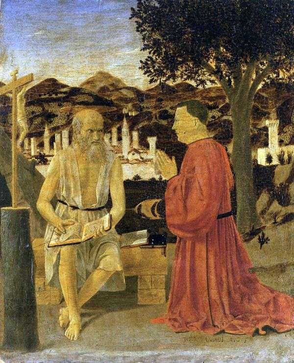 ドナー   ピエロ・デッラ・フランチェスカと聖ジェローム