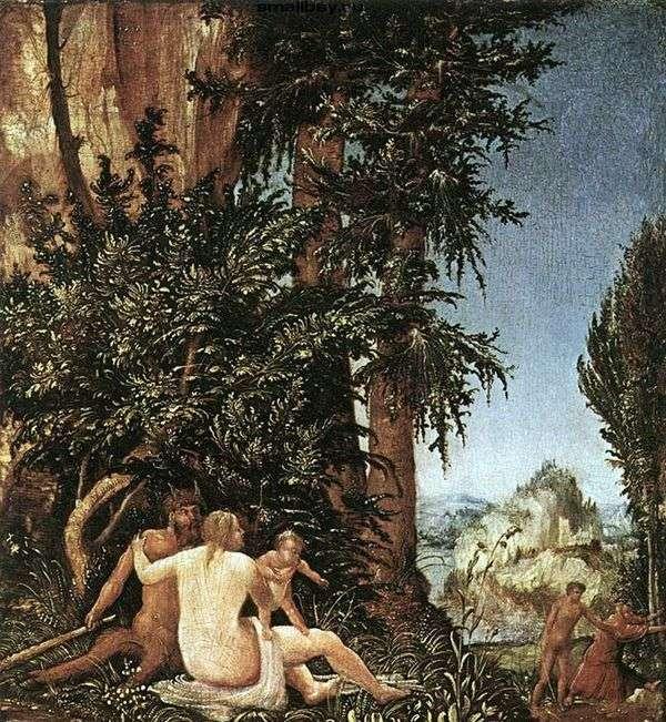 風刺家族の風景   Albrecht Altdorfer