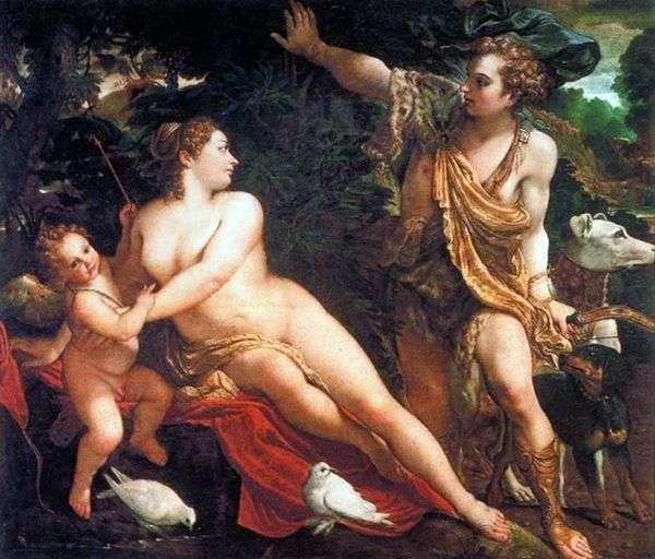 金星、アドニス、キューピッド   Annibale Carracci