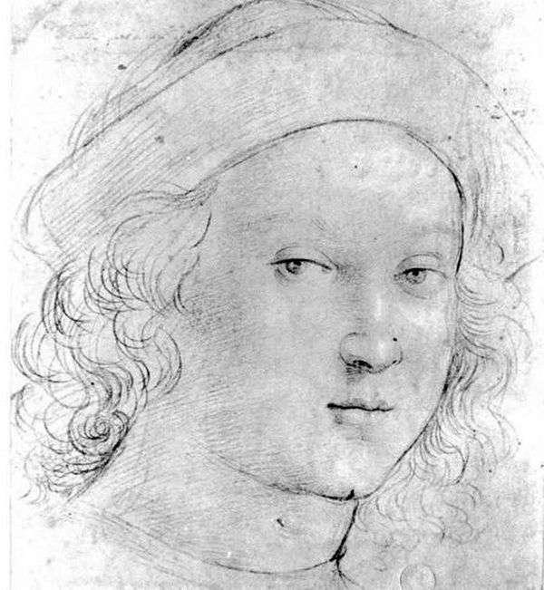 男の子の頭   ラファエルサンティ
