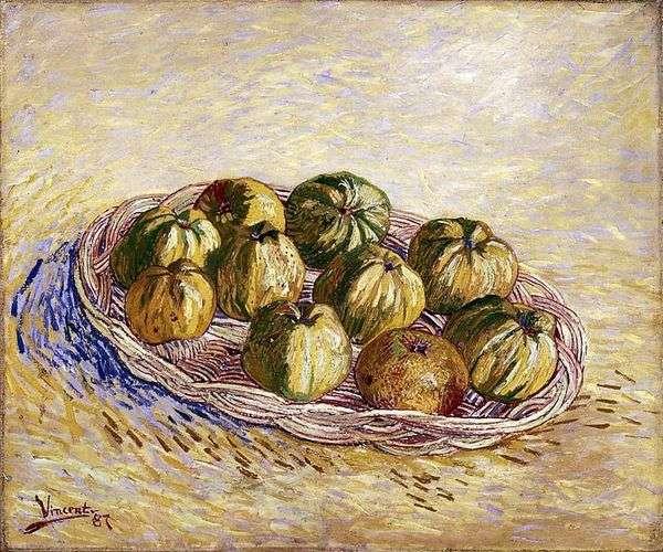 りんごのバスケットのある静物   Vincent Van Gogh
