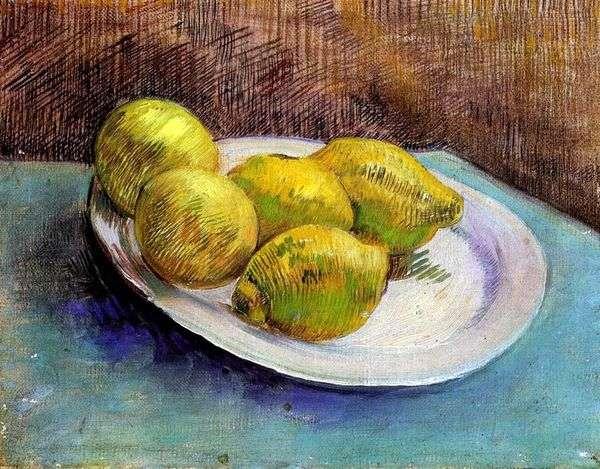 皿にレモンのある静物   Vincent Van Gogh
