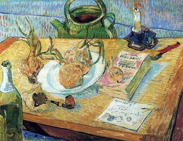 弓と絵板のある静物   Vincent van Gogh