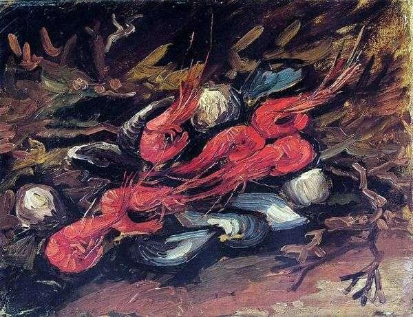 ムール貝とエビのある静物   Vincent Van Gogh