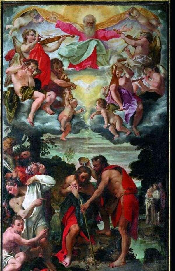 キリストの洗礼   Annibale Carracci