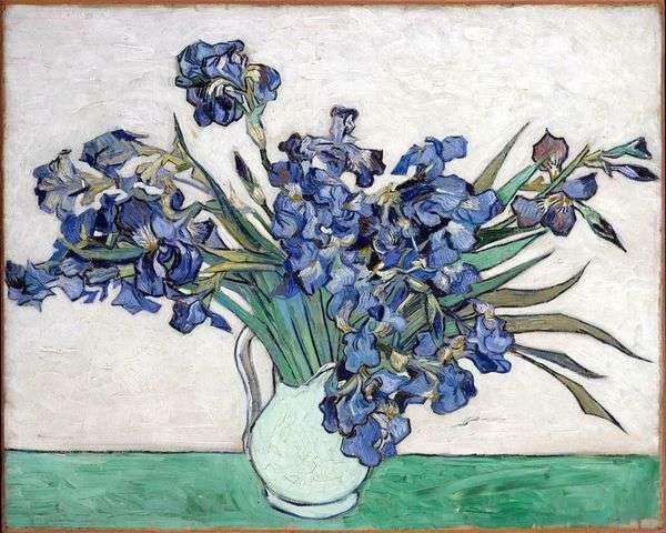 静物:アイリスと花瓶   Vincent Van Gogh