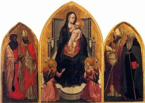 天使と聖人の聖母(サンジョヴェナーレのトリプティク)   Masaccio
