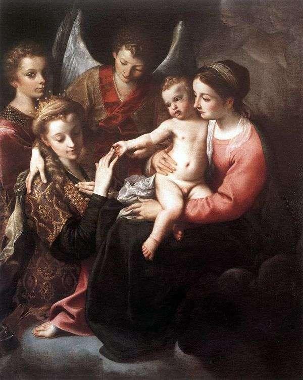 聖カタリナの婚約   Annibale Carracci
